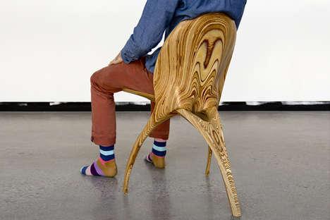 Folding Wooden Skeletal Seating