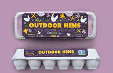 Playfully Illustrative Egg Packs