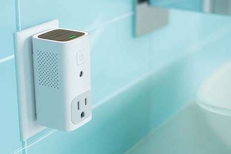 Air-Analyzing Outlet Devices - The Awair Glow Air Quality Monitor Works with AC and Humidifier Units