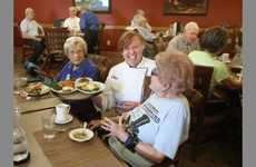 Restaurant-Style Retirement Cafeterias - Atria Hearthstone's Cafeteria Uses Servers and Menus