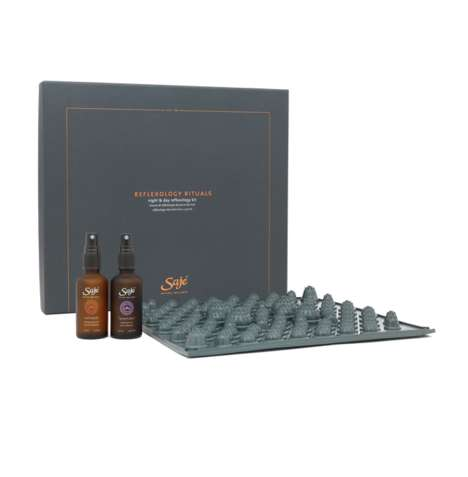 At-Home Reflexology Kits - Saje's Foot 'Reflexology Rituals' Set Balances with Essential Oils