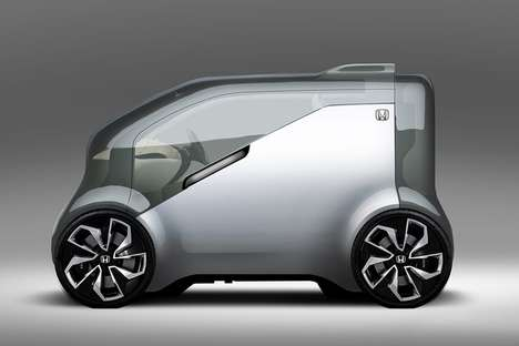 Automated AI Vehicles - The Honda 'NeuV' Concept Electric Vehicle will Unveil at CES 2017