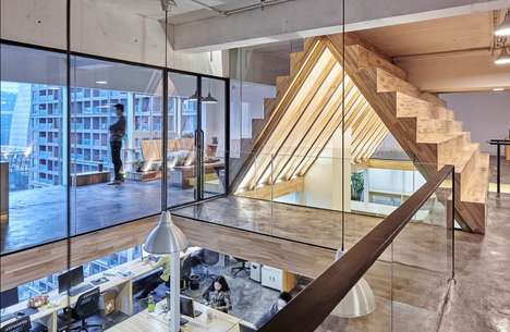 Prismatic Office Interiors - This Uniquely Structured Office Design Was Created by 'Had Architects'