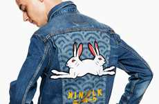 Graphic Double Bunny Jackets - Levi's Trucker Jacket Was Given a Bold Update with Kinfolk's Help