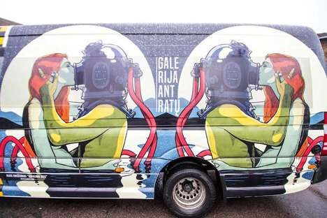 Pop Art Bus Murals - Algis Kriščiūnas' Unique Art Brightens Up This Lithuanian Transport Service