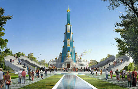 Towering Religious Structures - Vrindavan Chandrodaya Mandir will be the Tallest Religious Building