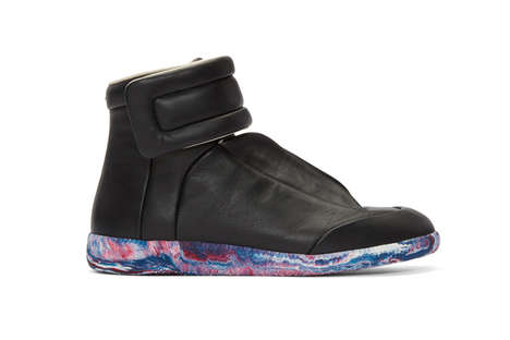 Futuristic Psychedelic High-Tops