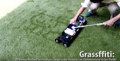 Grass-Drawing Lawn Mowers
