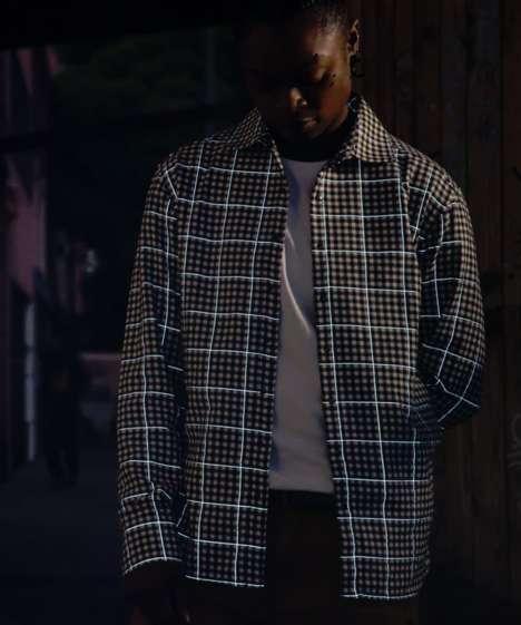 Reflective Plaid Shirts