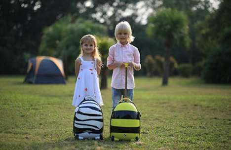 Remote-Control Kid Suitcases - The Rastar Kids Suitcase with Wheels is Controlled Remotely