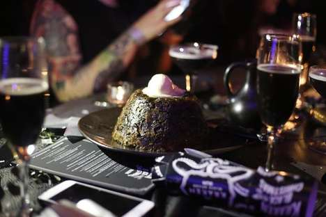 Black Christmas Dinners - Kraken Launched a Dark Festive Feast to Pair with Its Iconic Black Rum