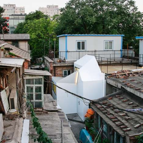Austere Hutong Homes - People's Architecture Office Built a Stark Home in a Beijing Hutong