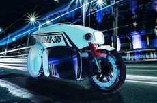 Autonomous Police Motorcycles - 'The Brigade' is a Self-Driving Electric Motorcycle Concept