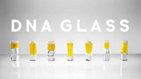 Genetically Specified Beer Glasses - The 'DNA Glass' is a Beer Vessel Designed Based on Biology