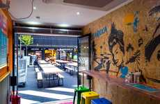 Art-Themed Brazilian Cafes - This Cafe is Decorated with Bespoke Artwork and Patterned Stickers