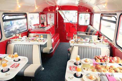 Mobile Double Decker Cafes - London's 'B Bakery' Offers an Afternoon Tea Bus Tour