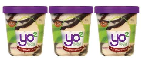 Caffeinated Frozen Yogurt Desserts