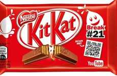 Video-Linked Chocolate Bars - Nestlé Teamed Up with Google for These YouTube Kit-Kat Wrappers