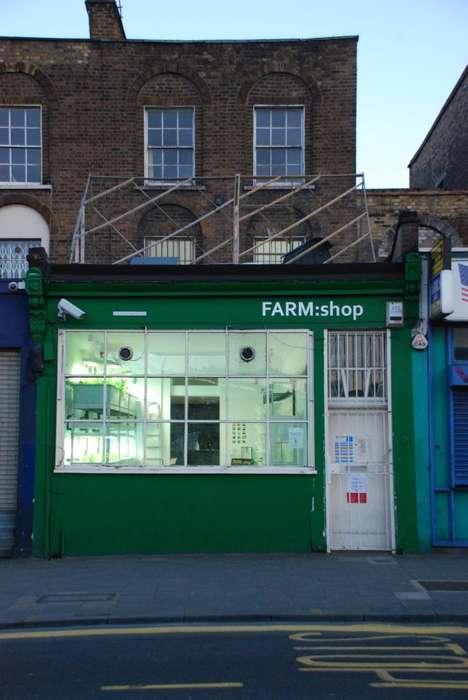 Hydroponic Farm Cafes - London's 'FARM:shop' Grows Food On-Site for Its In-Store Cafe