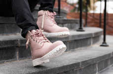 Pastel Pink Work Boots