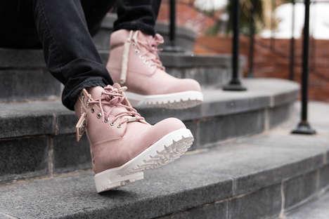 Pastel Pink Work Boots