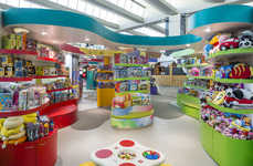 Unenclosed Airport Toy Stores - This Store Was Placed in the Middle of an Airport to Occupy Kids