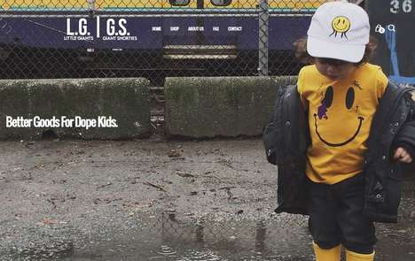 Remixed Children's Streetwear - Little Giants Offers Kid-Friendly Versions of Popular Urban Apparel
