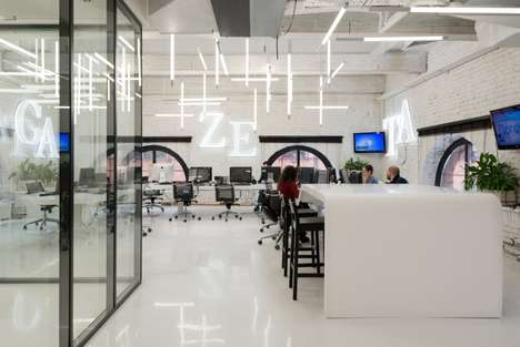 Communication-Focused Offices - This Exposed Brick Office Space Was Designed by Nefa Architects