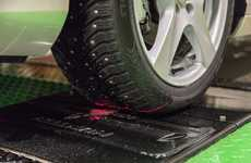 Tire-Scanning Speedbumps - The Nokian 'SnapSkan' Provides Car Tire Service Automatically