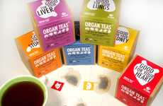 Organ-Shaped Health Teas - Organ Teas Let a Drinker Know What it's Good For via Bag Shape