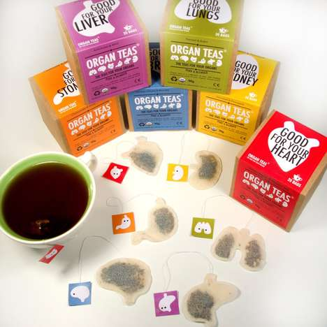 Organ-Shaped Health Teas