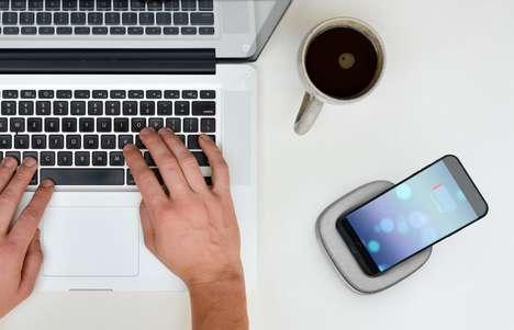 Cushioned Smartphone Charging Docks