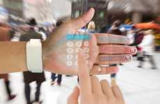 Hand Projection Smartphones - The 'eyeHand' Turns Your Palm into a Touchscreen Smartphone