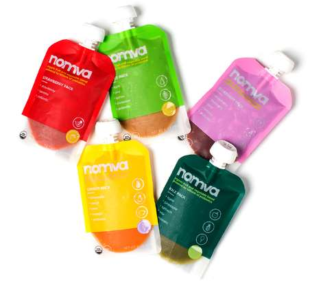 Probiotic-Packed Fruit Snacks - The Nomva Fruit Packs Each Contain Billions of Probiotics