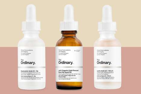 Minimalist Anti-Aging Serums - 'The Ordinary' Skincare Chooses Quality Over Fancy Packaging