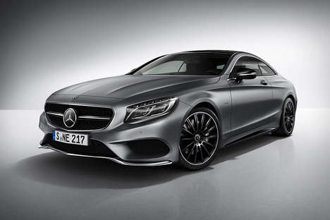 Seductive Matte Supercars - The Mercedes-Benz S-Class Coupe Night Edition is Demure