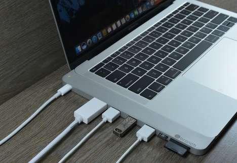 Contoured Laptop Port Hubs