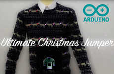 LED Display Holiday Sweaters - The Ultimate Christmas Jumper Displays Images and Reacts to Sounds
