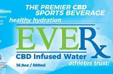 CBD-Infused Water - EVERx CBD Infused Bottled Water is Branded as an Athletic Water Product