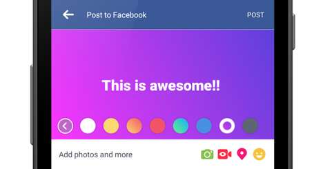 Colorful Social Media Updates
