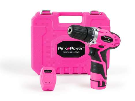 Feminized Power Tools - The Pink Power Cordless Drill Kit is Designed for Women