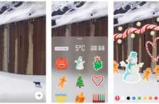Festive Social Media Emojis - Instagram Stickers Are Now Included in the 'Stories' Feature