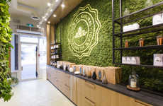 Green Wall Retail Displays