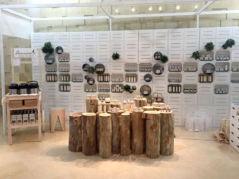 Wholesome Beauty Popups - The Amina's SkinCare Boutique Boasts Rustic Product Displays
