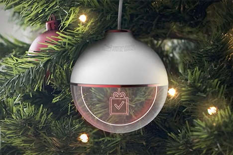 Gift-Tracking Ornaments - The USPS Gift Tracking Ornament Enables Package Tracking from the Tree