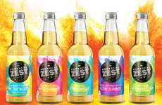Sassy Kombucha Branding - Kombucha Zest Organic Health Drinks are Marketed in a Hip Way