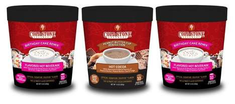 Ice Cream Brand Beverages - The Sweet Offerings Cold Stone Creamery Hot Cocoas are Indulgent