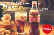Ginger Cola Beverages - This Coca-Cola Product Features Warming Ginger to Fight the Winter Cold
