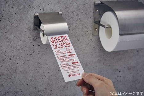 Smartphone-Cleansing Tissue Rolls