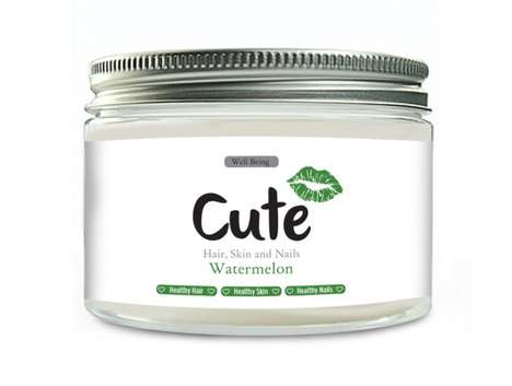 Flavorful Watermelon Supplments - The Cute Hair, Skin and Nails Powder is Packed with Nutrients